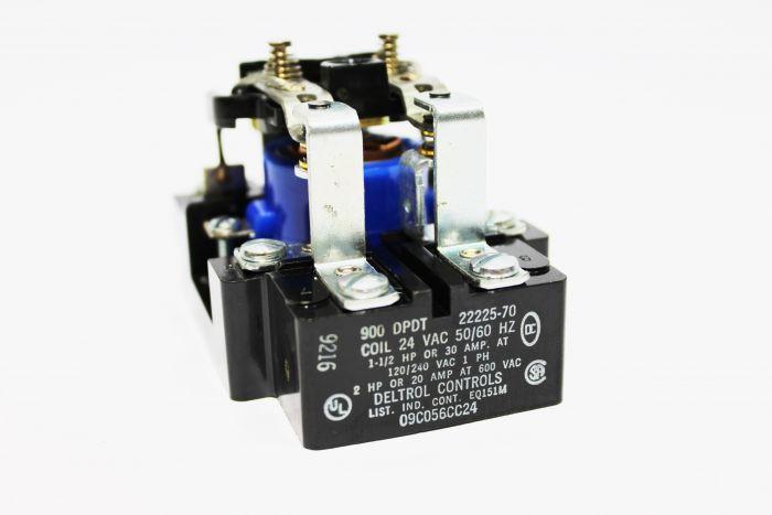 RELE 24V ANTIGUO MILNOR REEMPLAZADO POR 09C056 24VAC 50/60HZ 1-1/2 HP OR 30 AMP 120/240 VAC 1 PH 2 HP OR 20 AMP AT 600VAC DELTROL CONTROLS